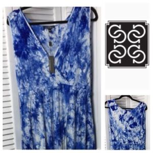 Cable & Gauge Tie Dye Maxi Dress NWT